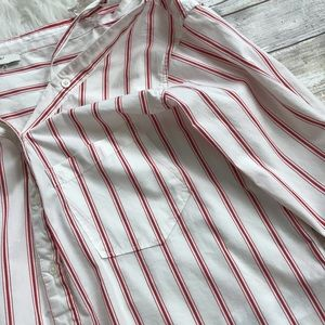 Joie Tops - Joie Alvina Striped Cold Shoulder Button Down Top